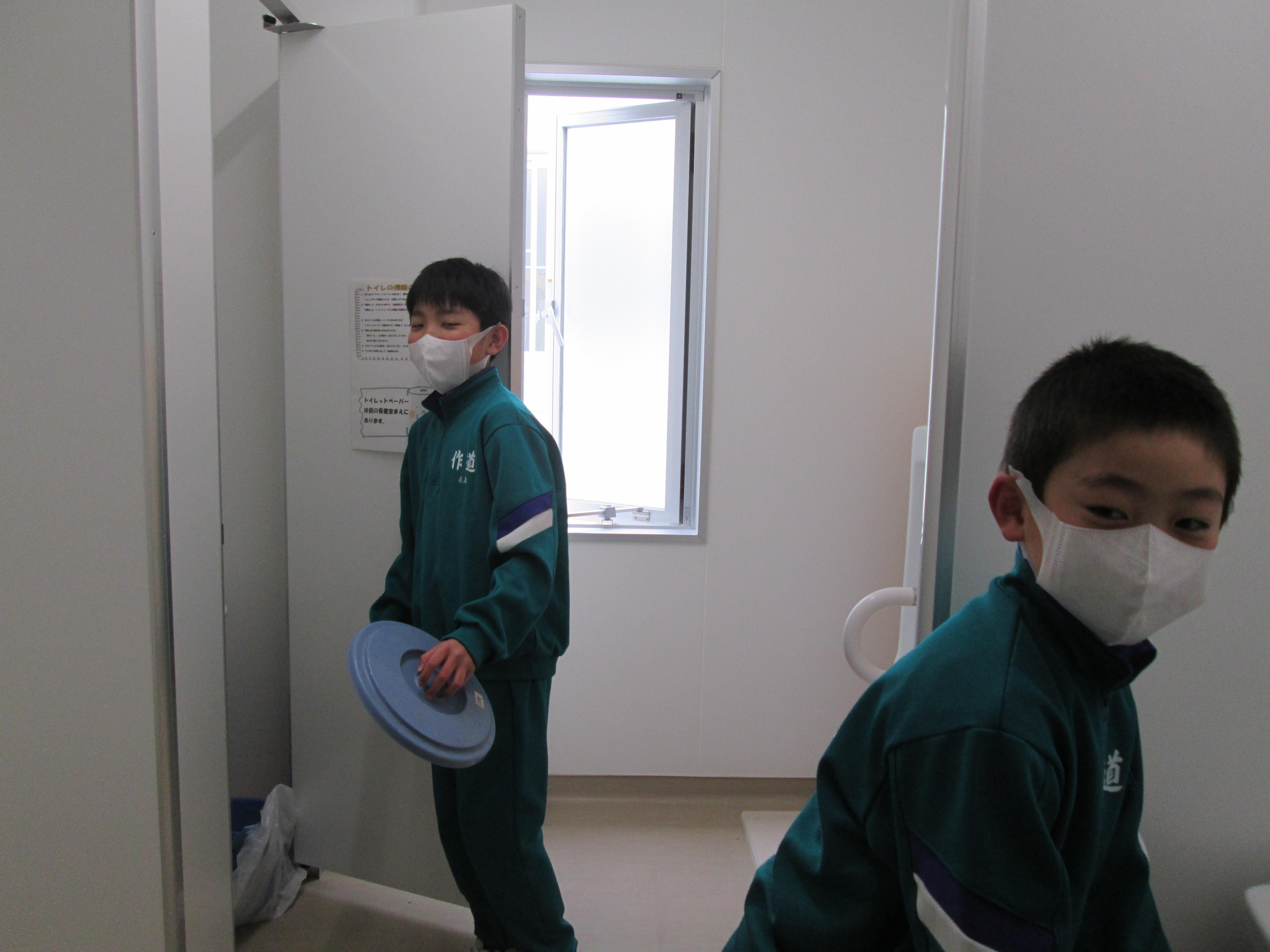 清掃時のマスク着用について